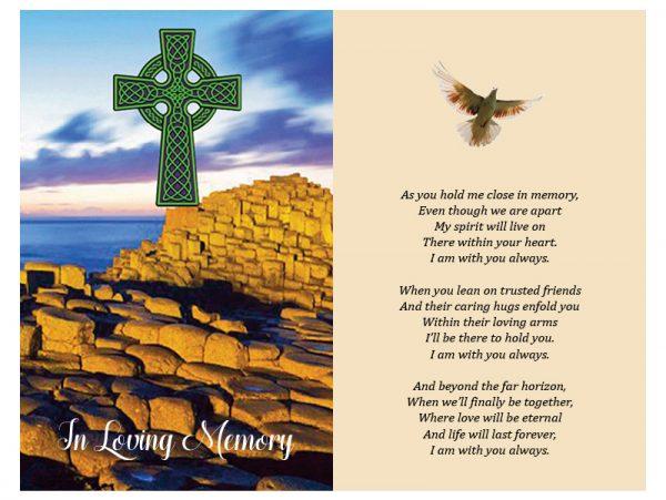 Double In-Memoriam Celtic Crosse 1