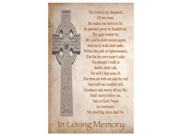 Singal In-Memoriam Celtic Crosse 6
